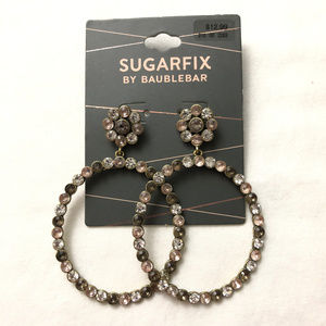 Sugarfix by BaubleBar Flowers Crystal Hoop Earring